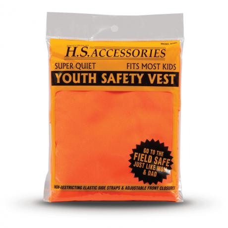 youth orange safety vest