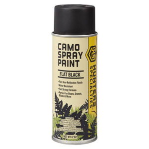 Camo Spray Paint Black